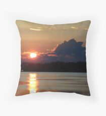 Early Summer Sunset Throw Pillow
