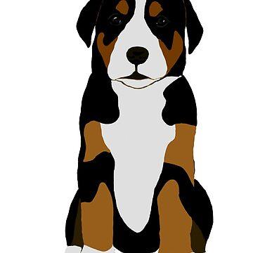 Puppy Mountain Dog  by kjhart8