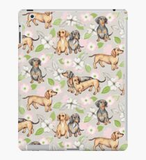 Dachshunds and Dogwood Blossoms iPad Case/Skin