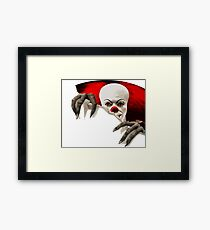 It-horror clown Framed Print