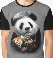 PANDA LOVES PIZZA Graphic T-Shirt