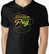 Stay In Pet My Pug Life Face Gifts For Grooming Dog Lovers T-Shirt