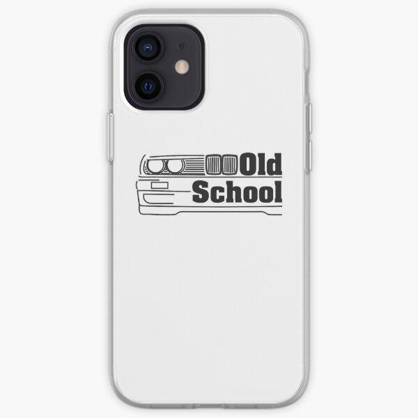 E30 Old School - Noir Coque souple iPhone
