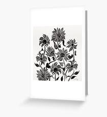 Sunflowers – Black Palette Greeting Card