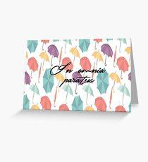 gilmore girls-in omnia paratus Greeting Card