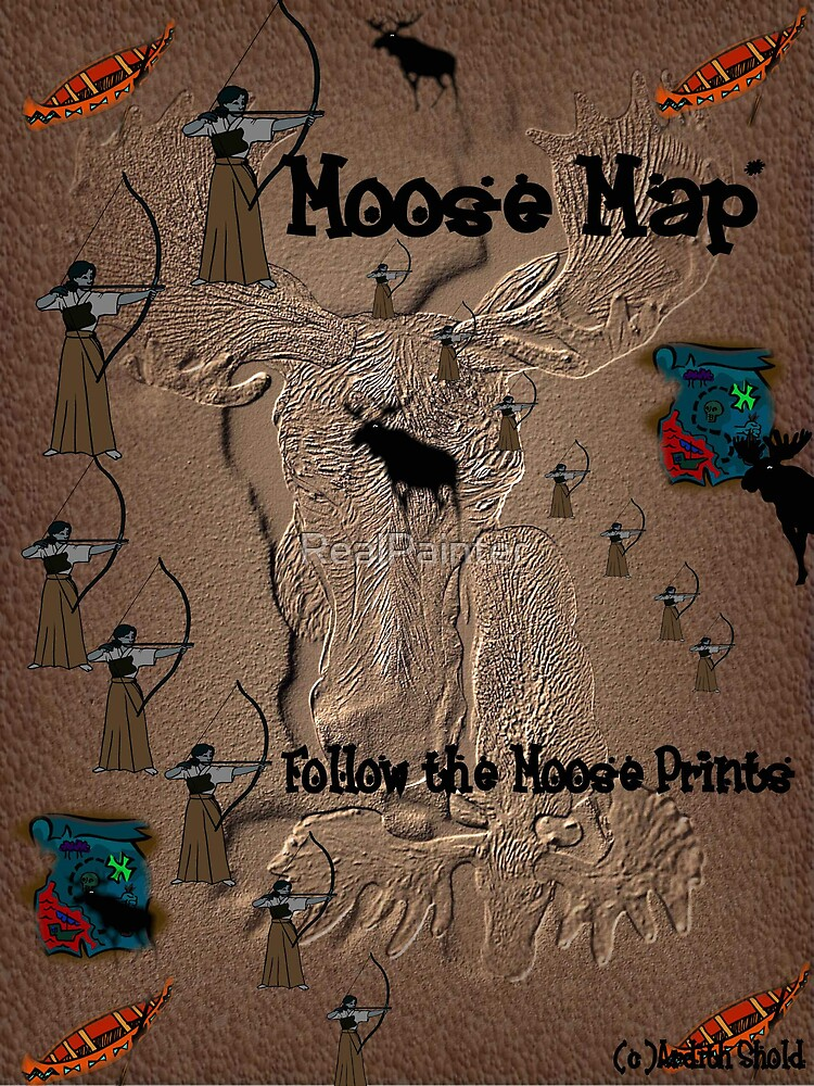 Funny Moose Map by RealPainter