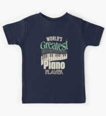 World's Greatest Piano Player Music Keys Gifts For Pianist Kids Tee