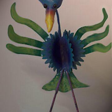 Dancing bird by sbosic