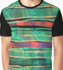 bohemian styled green and orange pattern Graphic T-Shirt