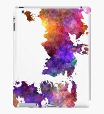 Map game of thrones in watercolor art iPad Case/Skin