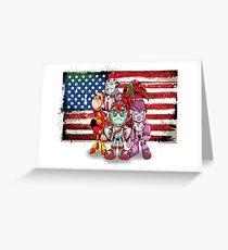 "Robobot ""Off to Mars"" / Robobot Team / USA / United States Greeting Card"