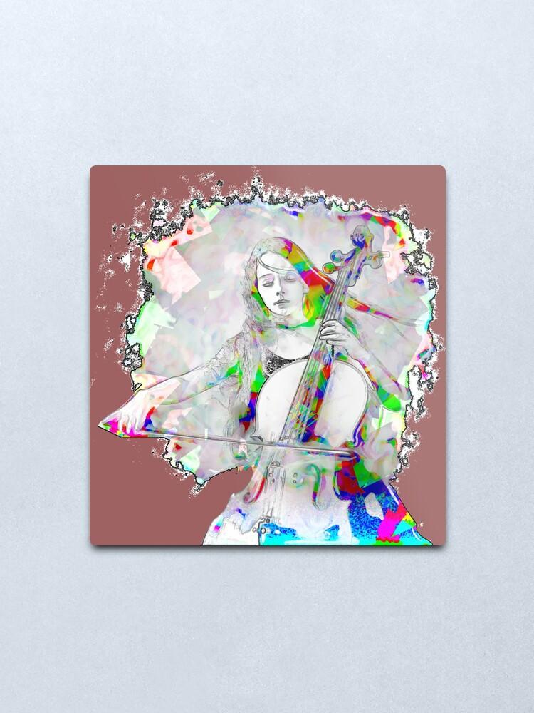 Alternate view of Cello Girl Metal Print