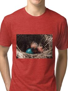 Baby bird in nest Tri-blend T-Shirt