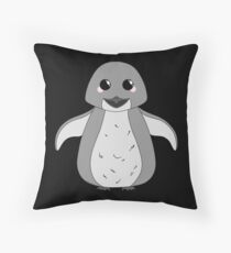 Kawaii Penguin Throw Pillow