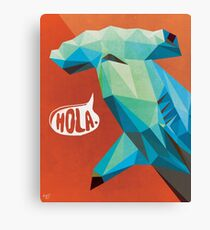 HOLA. Canvas Print