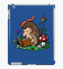 Hedgehog Book Reading Lover Funny Geek Forest iPad Case/Skin