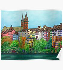 Colours of Basel, Switzerland Poster