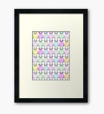 Rainbow yeti Framed Print