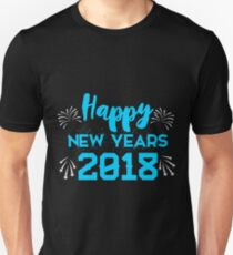 Happy New Years 2018 design Unisex T-Shirt