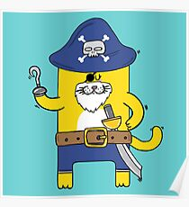 Pirate Meow Poster