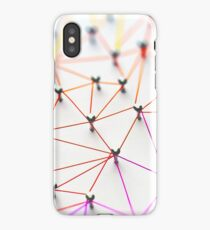 Linking entities. Networking, social media, SNS, internet communication abstract iPhone Case/Skin
