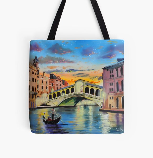 The Venice reflections by Gordon Bruce All Over Print Tote Bag