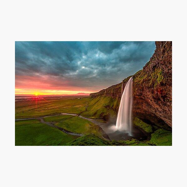 Selandjafoss, Iceland Photographic Print