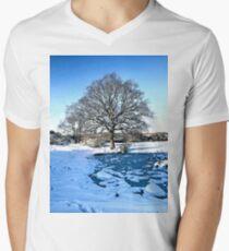 Snow Scene Men's V-Neck T-Shirt