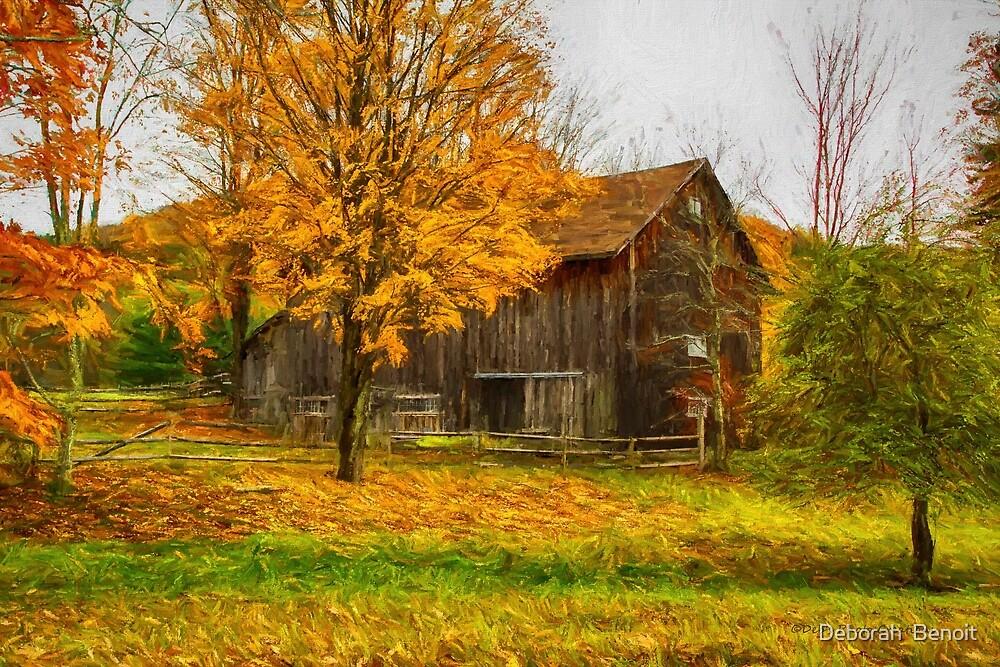 Autumn Catskill Barn by Deborah  Benoit