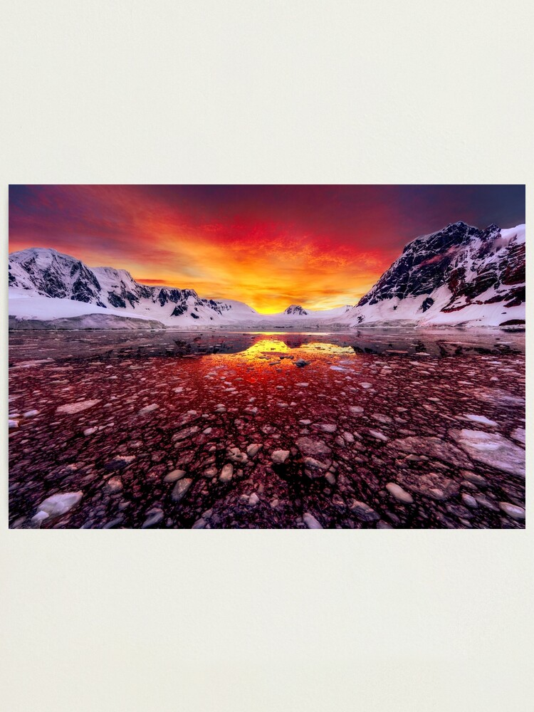 Alternate view of Antarctic Sunrise Photographic Print