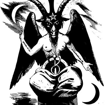 Wall Hanging & More: Mega Baphomet on White by Weltenbrand