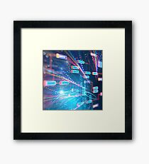 Abstract Futuristic infographic. Framed Print