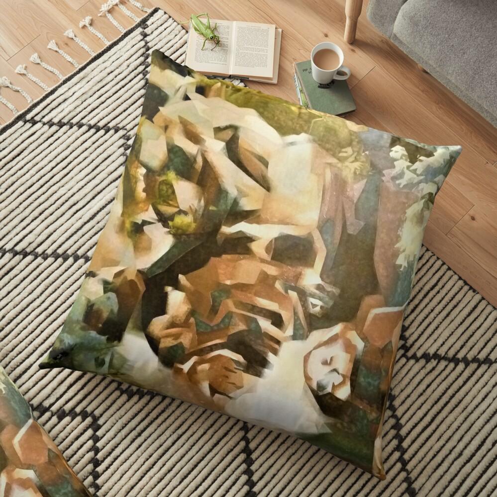 modern art Floor Pillow