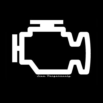 Check engine (live dangerously) (white) by RobertBell
