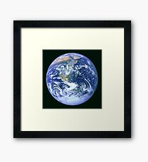 Earth refined and processed from Apollo 17 on December 7, 1972 Framed Print
