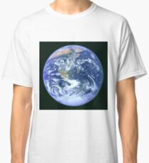 Earth refined and processed from Apollo 17 on December 7, 1972 Classic T-Shirt