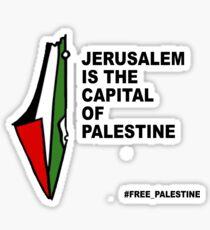 JERUSALEM CAPITAL OF PALESTINE Sticker