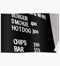 Fast Food Board Poster