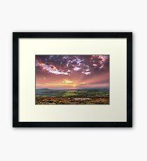 Sunset Shropshire Hills Framed Print