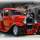 red car birthday card by picketty