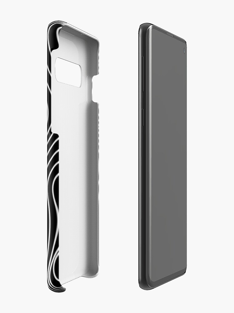 Alternate view of Optical Illusion Minimal Lines Case & Skin for Samsung Galaxy