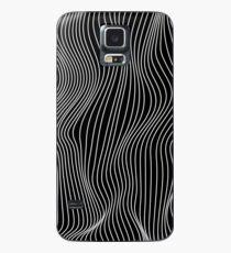 Minimale Linien der optischen Illusion Hülle & Klebefolie für Samsung Galaxy