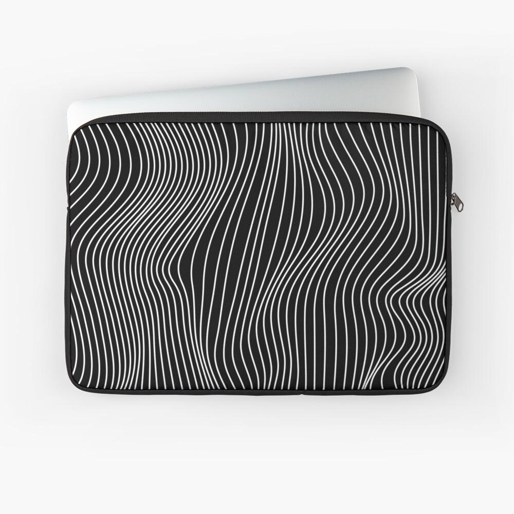 Optical Illusion Minimal Lines Laptop Sleeve