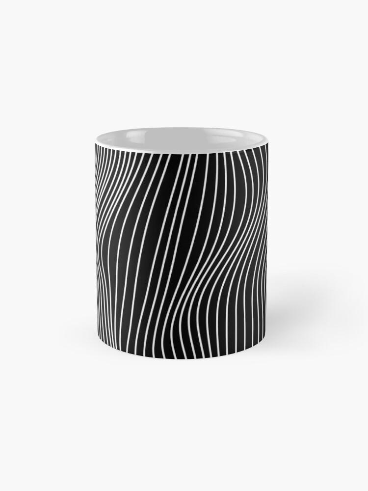 Alternate view of Optical Illusion Minimal Lines Mug