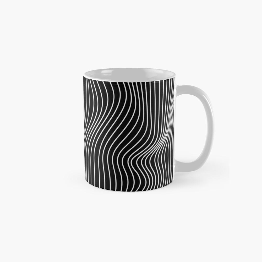 Optical Illusion Minimal Lines Mug