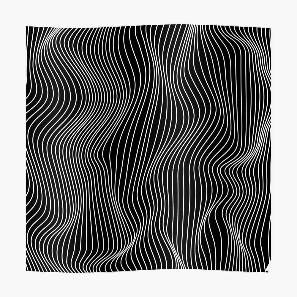 Optical Illusion Minimal Lines Poster