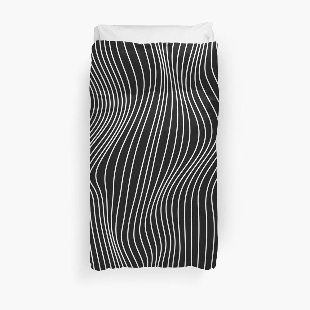 Optical Illusion Minimal Lines Duvet Cover
