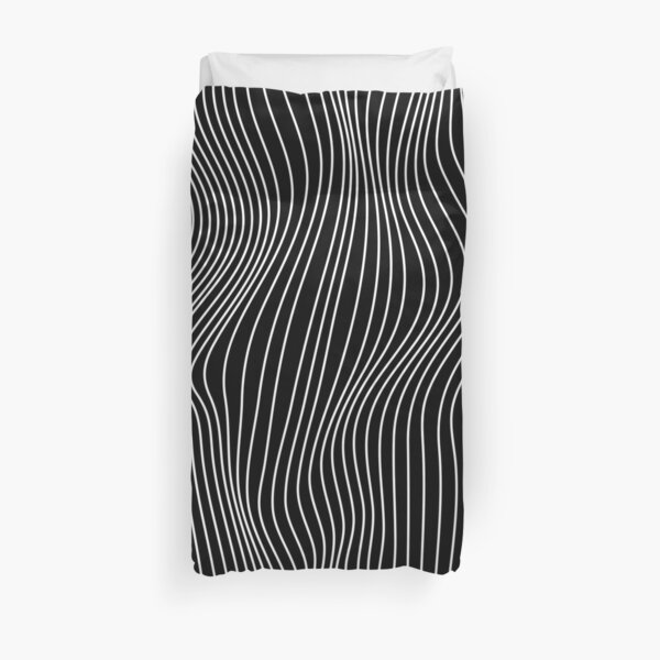 Optical Illusion Minimal Lines Duvet Cover