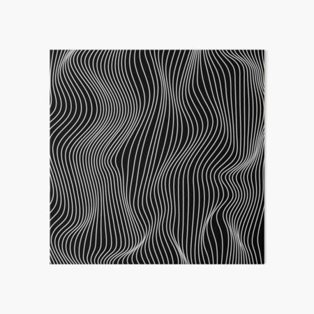Optical Illusion Minimal Lines Art Board Print