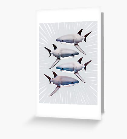 GREATWHITE Greeting Card